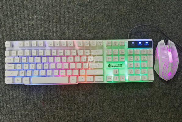 Bộ phím chuột Shipadoo D600 trắng